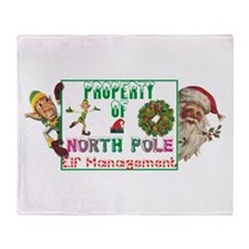 Property of North Pole Throw Blanket