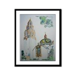 Spanish Tower Framed Panel Print