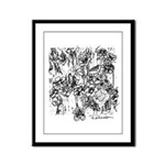 Flower Field Framed Panel Print