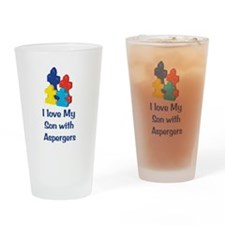 Love Aspergers Son Drinking Glass
