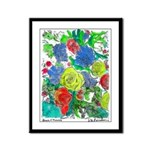 Bunch o'flowers Framed Panel Print