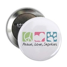 "Peace, Love, Snorkies 2.25"" Button (10 pack)"