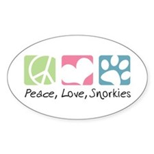 Peace, Love, Snorkies Decal