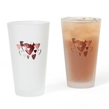 Lots of Hearts Drinking Glass