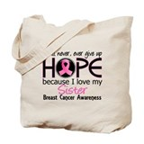 Never Give Up For My Breast Cancer Tote Bag
