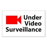 Under Video Surveillance Rectangle Decal