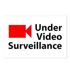 Under Video Surveillance Postcards (Package of 8