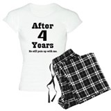 4th Anniversary Funny Quote Pajamas