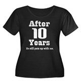 10th Anniversary Funny Quote Women's Plus Size Sco