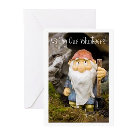 We Dig Our Volunteers! Greeting Cards (Pk of 10)