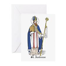 St. Ambrose Greeting Cards (Pk of 10)
