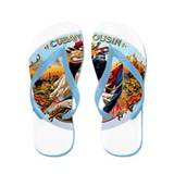 Cuban Cousin Cigar Label Flip Flops