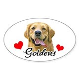Love Goldens Decal