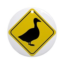 Goose Crossing Sign Ornament (Round)