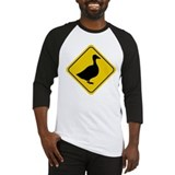 Goose Crossing Sign Baseball Jersey