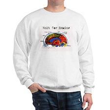 Knit For Brains Sweatshirt