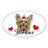 Love Yorkies Decal