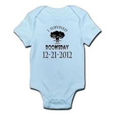 I Survived Doomsday 2012 Blac Infant Bodysuit