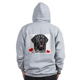 Love Labradors - Black Zip Hoody
