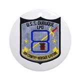 USS Dubuque LPD 8 Ornament (Round)
