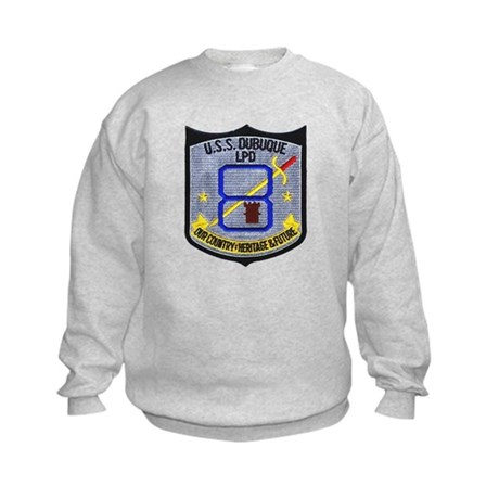 USS Dubuque LPD 8 Kids Sweatshirt