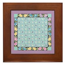 Vintage Bouquet Framed Tile