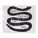 Colonial Don't Tread On Me Throw Blanket