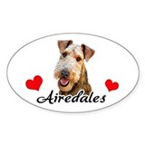 Love Airedales Decal