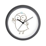 Peace Owl Wall Clock