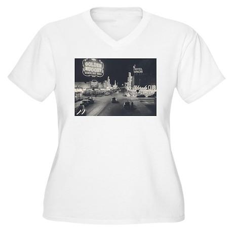 Vintage Downtown Las Vegas Women's Plus Size V-Nec