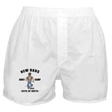 New Dad Boot Camp Personalized Boxer Shorts