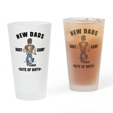 New Dad Boot Camp Personalized Drinking Glass