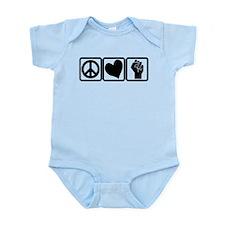 PEACE-LOVE-OCCUPY Infant Bodysuit