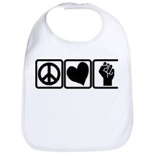 PEACE-LOVE-OCCUPY Bib