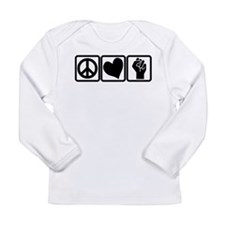 PEACE-LOVE-OCCUPY Long Sleeve Infant T-Shirt