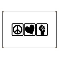 PEACE-LOVE-OCCUPY Banner