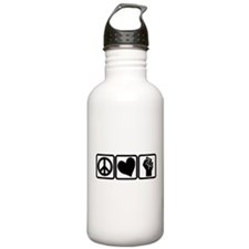 PEACE-LOVE-OCCUPY Water Bottle