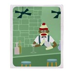 Sock Monkey Bartender Throw Blanket