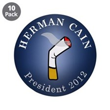 "Cain President 2012 3.5"" Button (10 pack)"