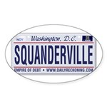 Squanderville Oval Sticker
