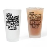 I Am Amazing Drinking Glass