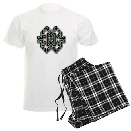 Celtic Yule Knot 1 Men's Light Pajamas