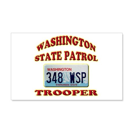 Washington State Patrol 22x14 Wall Peel