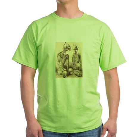 Medical Skeletons and Cadavers Green T-Shirt