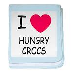 I heart hungry crocs baby blanket