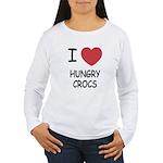 I heart hungry crocs Women's Long Sleeve T-Shirt