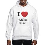 I heart hungry crocs Hooded Sweatshirt
