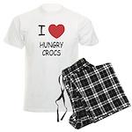 I heart hungry crocs Men's Light Pajamas
