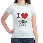 I heart hungry crocs Jr. Ringer T-Shirt
