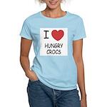 I heart hungry crocs Women's Light T-Shirt